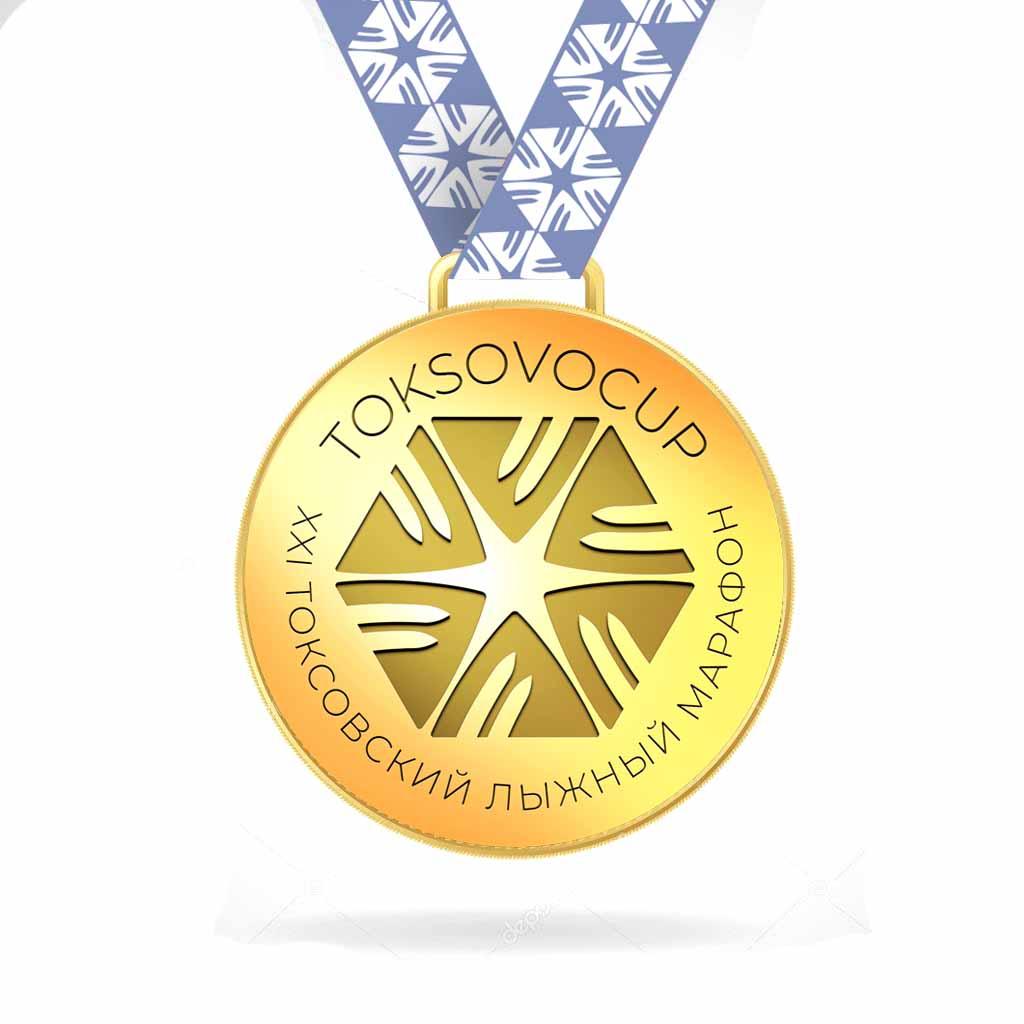 Дизайн медали для лыжного марафона