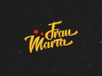 Лого для музыкальной группы Frau Marta