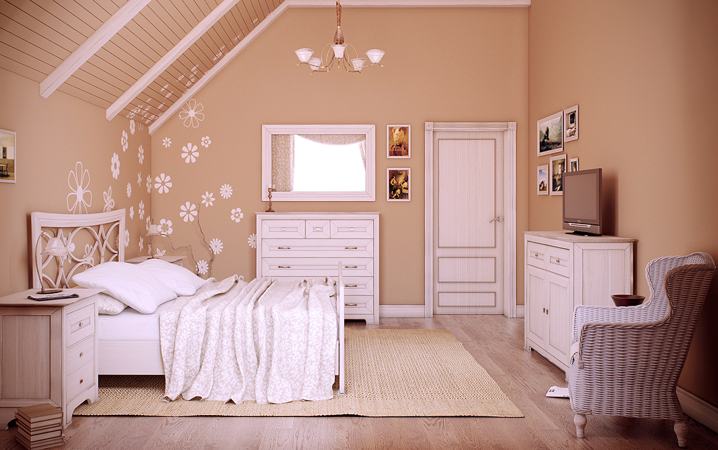 Коттедж - летний домик: спальня