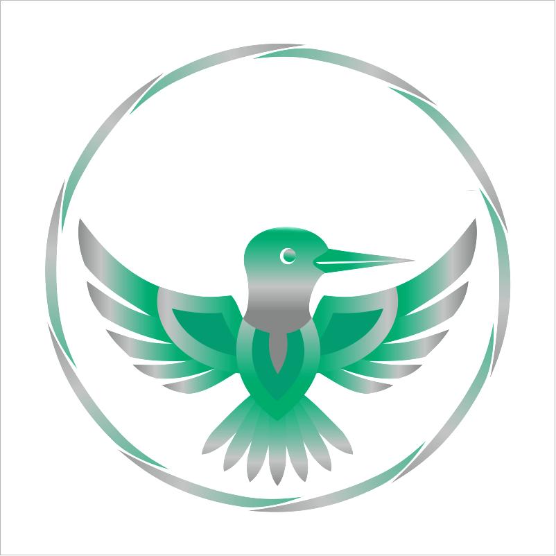 Разработка логотипа в виде хэштега #easy с зеленой колибри  фото f_1125d4e756e68a62.png