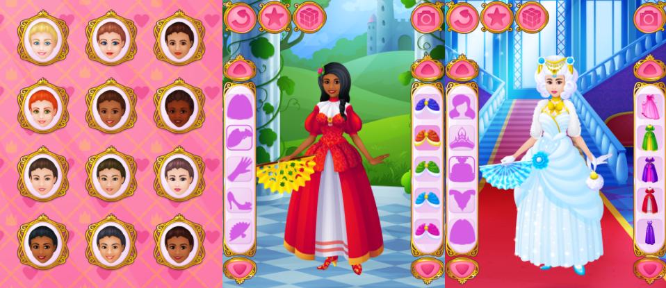 """Одевалка """"Принцессы"""""""