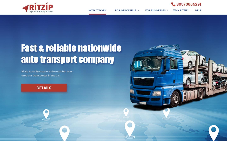 Дизайн сайта - автоперевозка авто в США -car hauling фото f_5836077f071ad84d.jpg