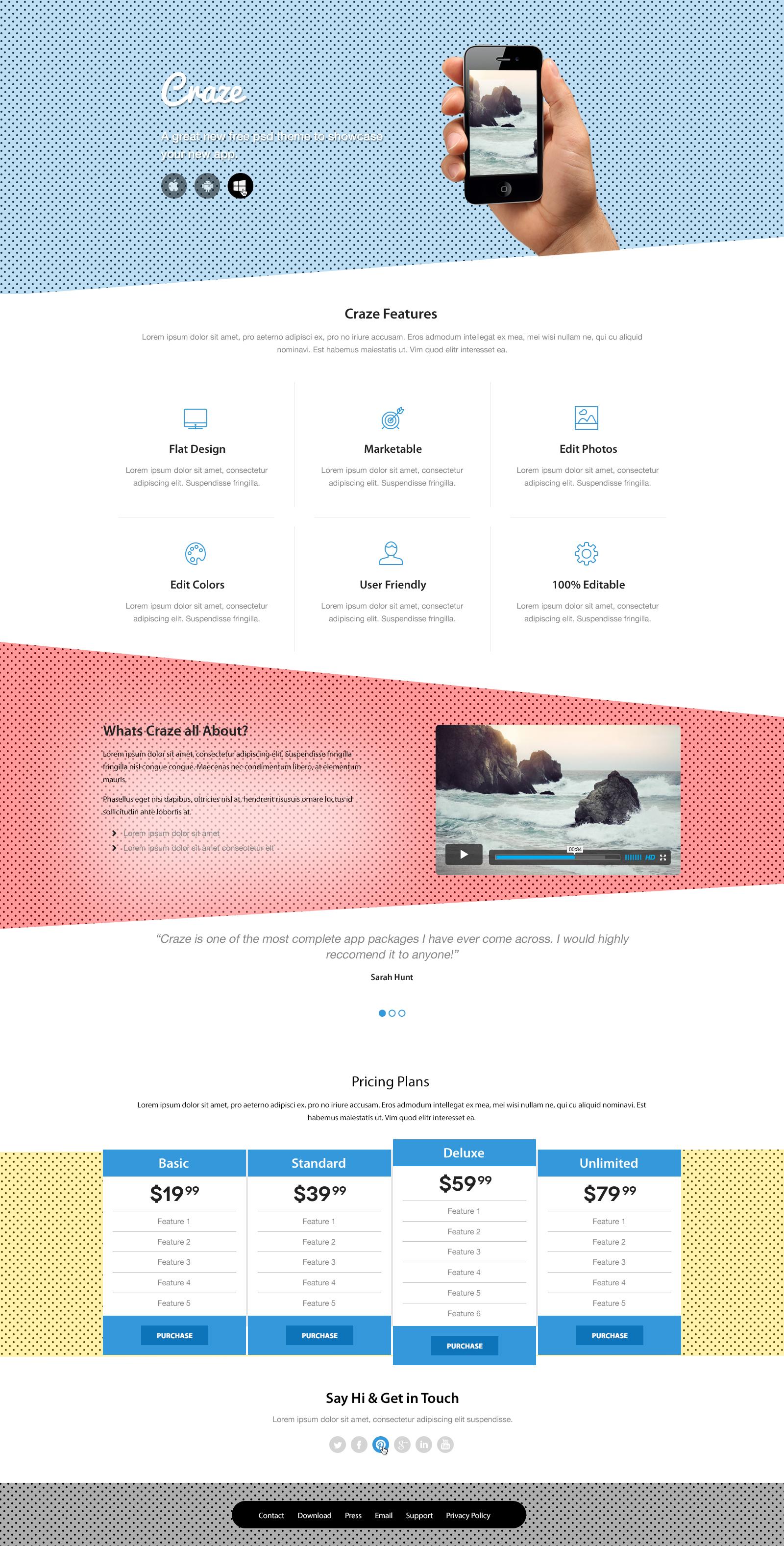 Концепция дизайна для Landing Page