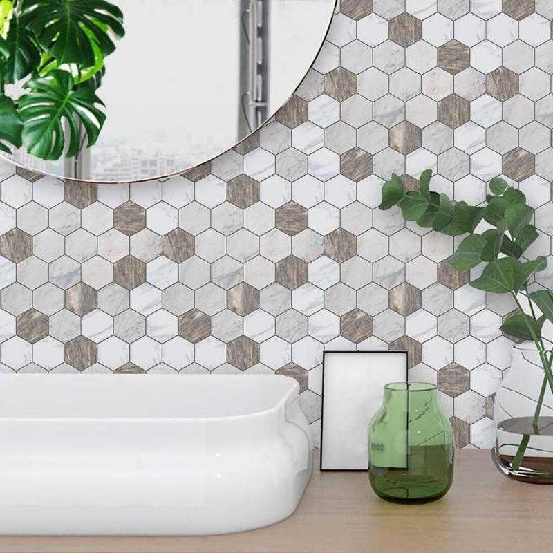 Дизайн кухонного фартука гексагональным пиксель-артом фото f_6355e1c00083cf3e.jpg
