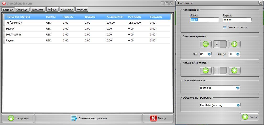 Клиент для финансового аналога сайта Forex Mac OS X, Windows, iOS, Android