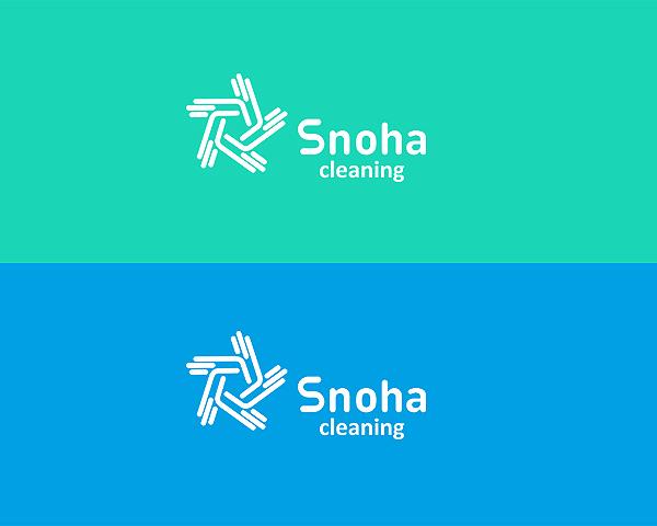 Логотип клининговой компании, сайт snoha.ru фото f_35754a90e062fc94.jpg