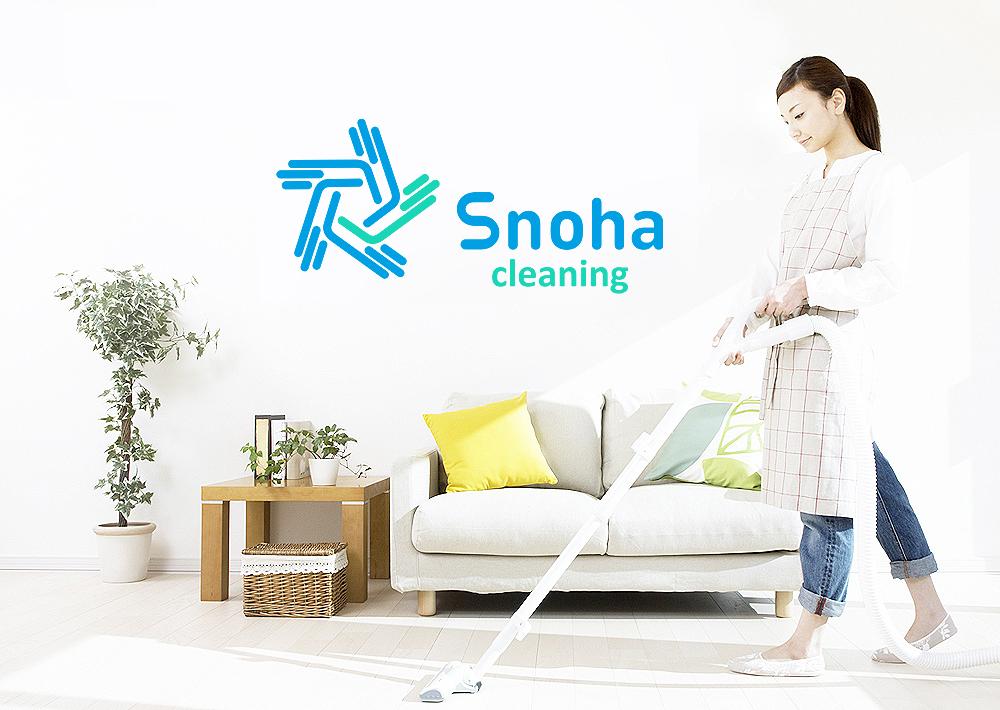 Логотип клининговой компании, сайт snoha.ru фото f_54154a90e10c929e.jpg