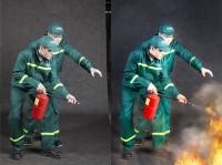 колллаж( тушение пожара)