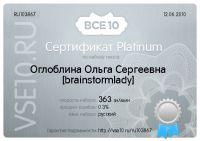 Сертификат по набору текста