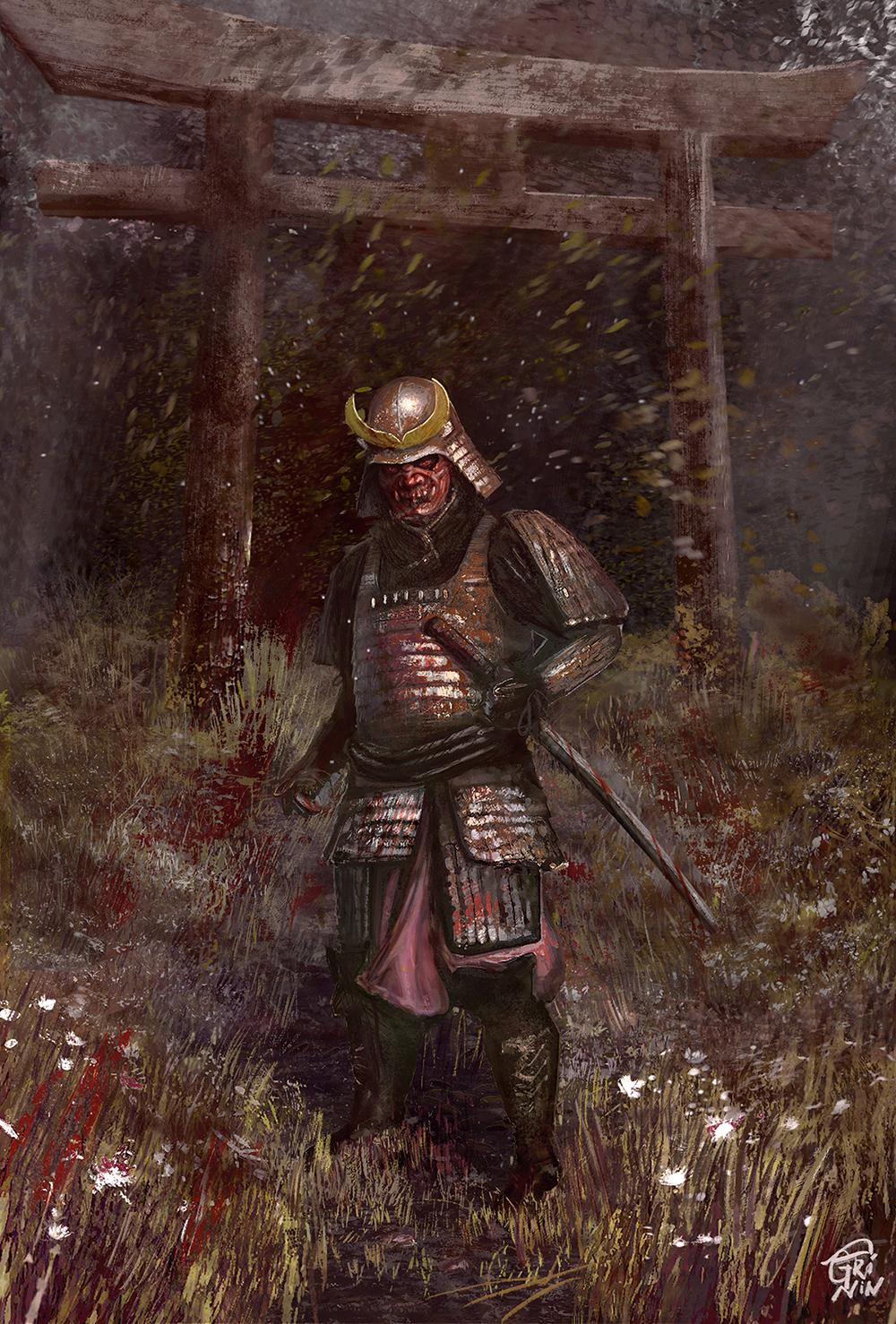 """R Samurai"", Иллюстрация"