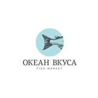 """Логотип сети фирменных магазинов морепродуктов """"Океан вкуса"""""""