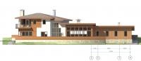 Дом на склоне. Главный фасад. Ортогональная проекция.