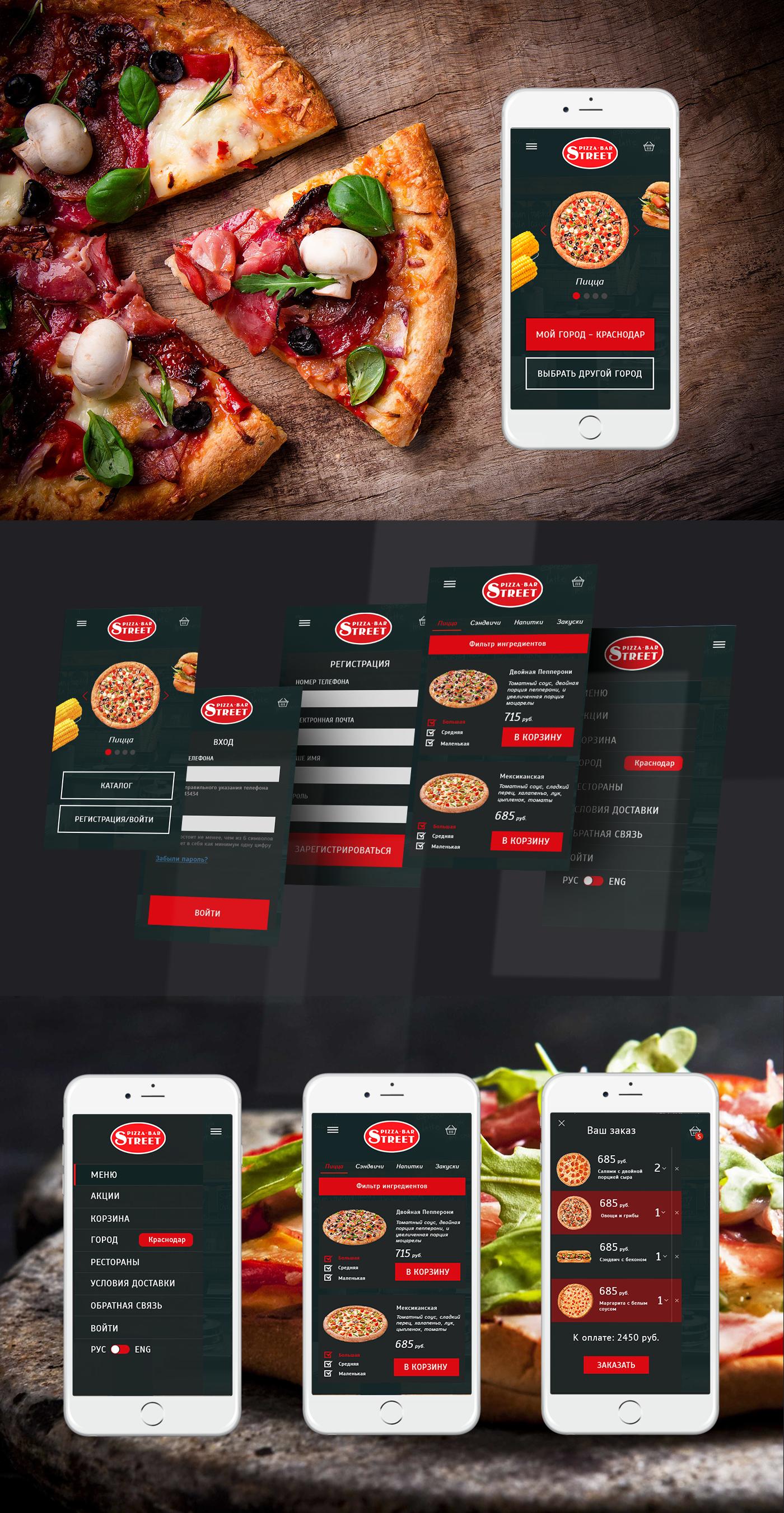 Мобильное приложение для заказа пиццы