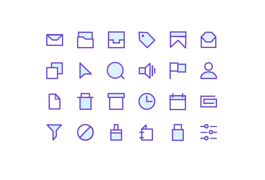 Сет минималистичных иконок для сайта
