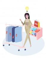 Гифка для аутлет-магазина женщина