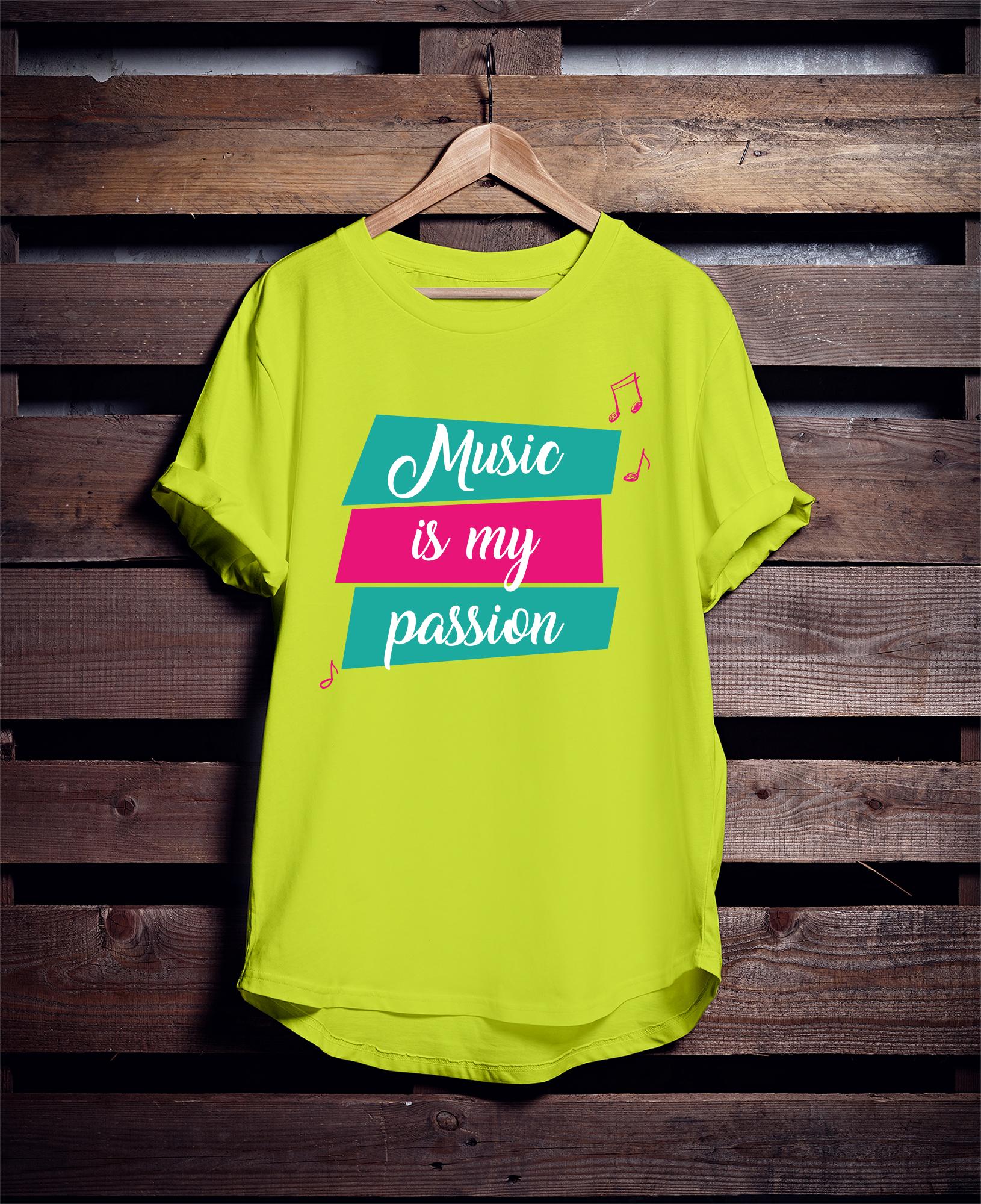 дизайн для футболки ( music)
