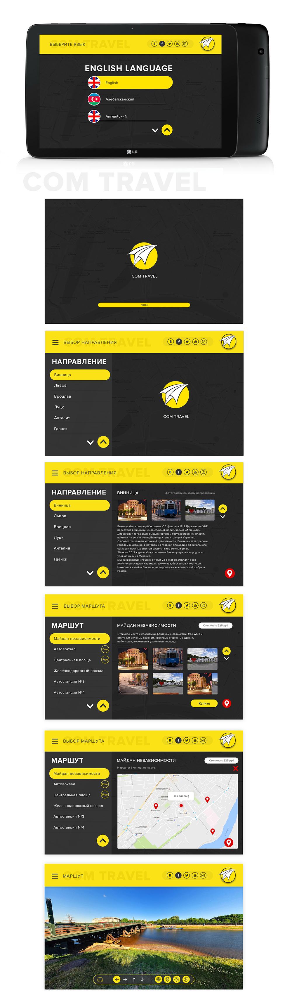 Дизайн  для приложения путешествия