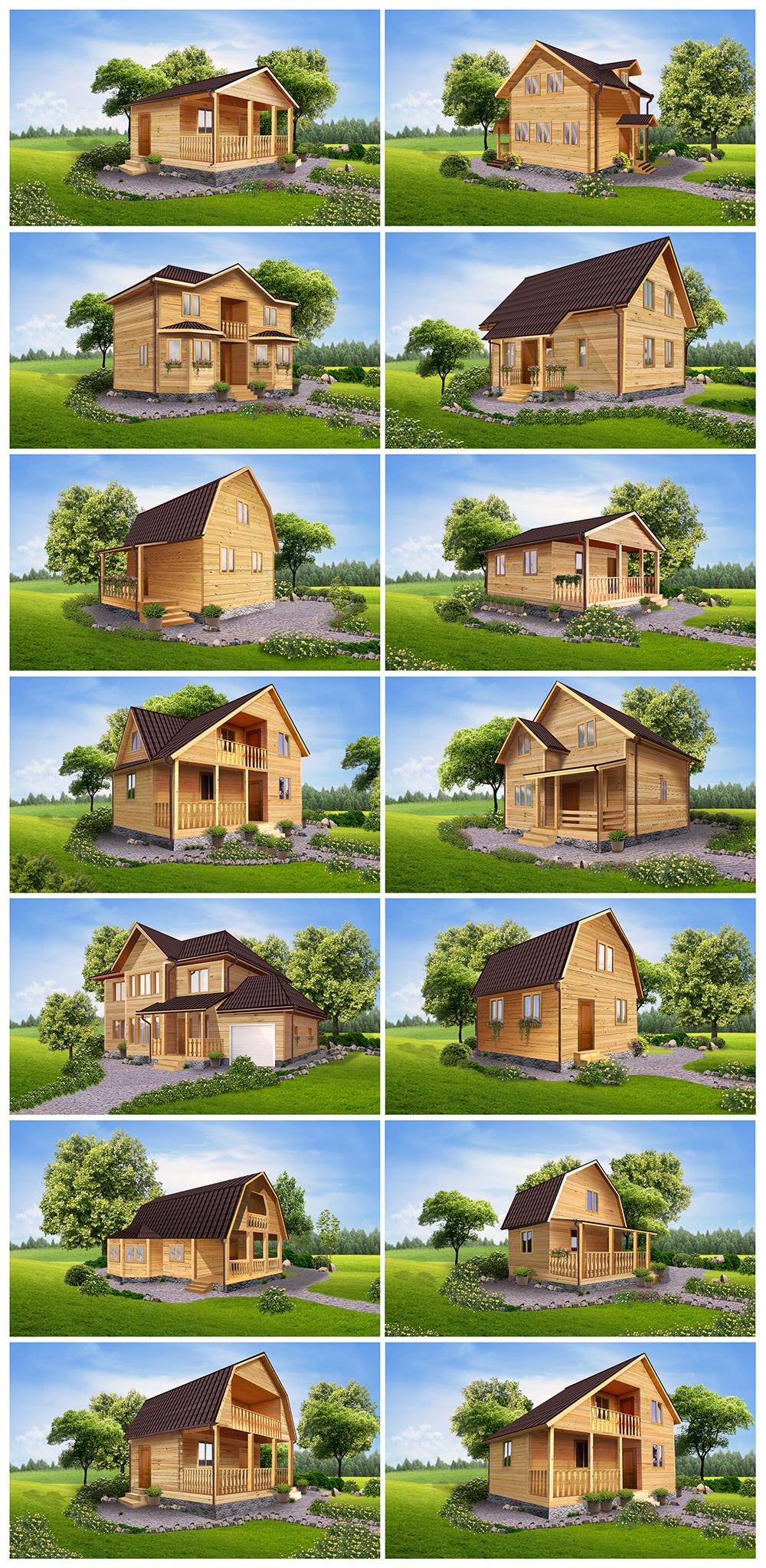 Отрисовка коттеджных домов