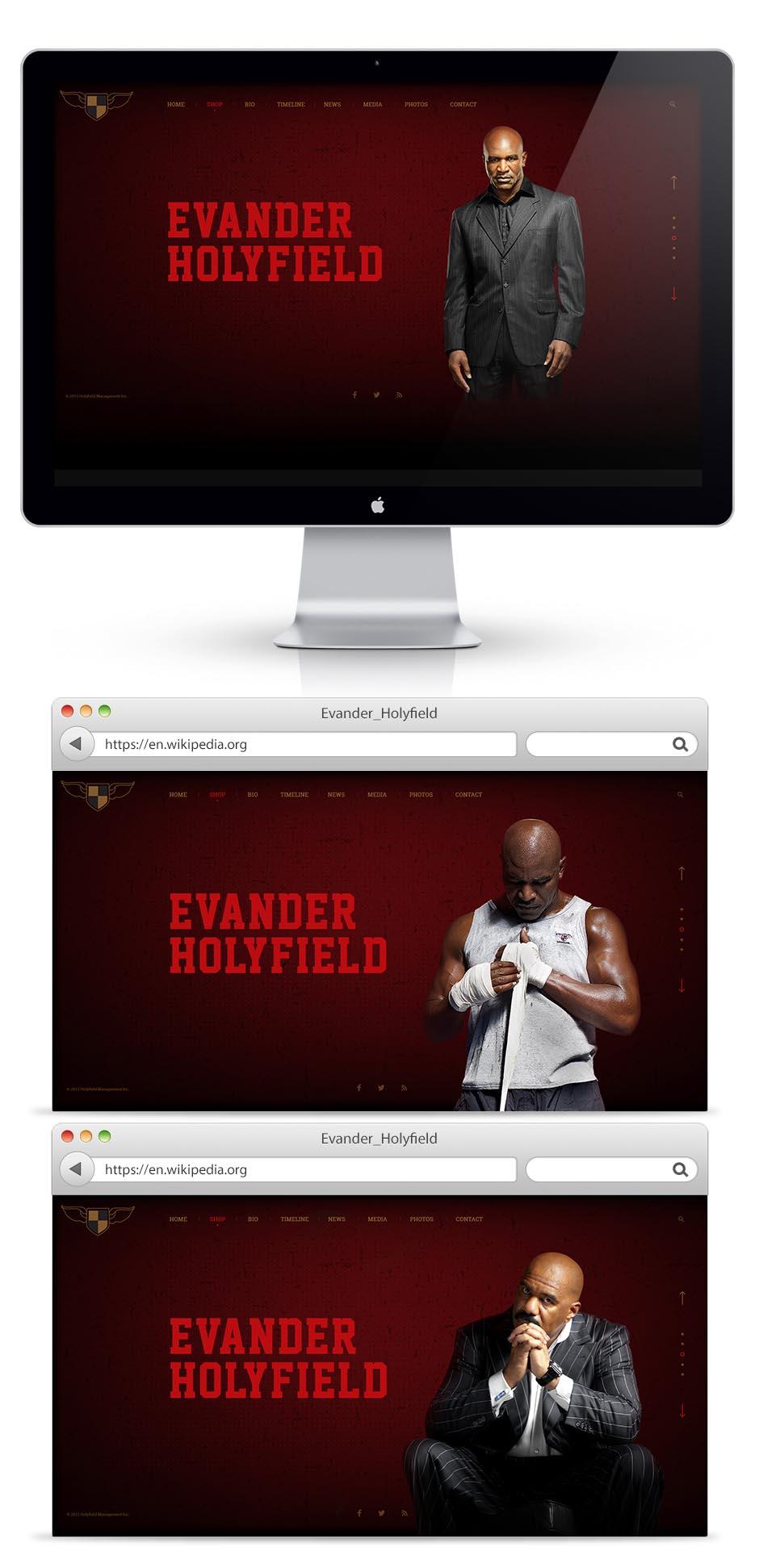 Дизайн сайта для Холифилда