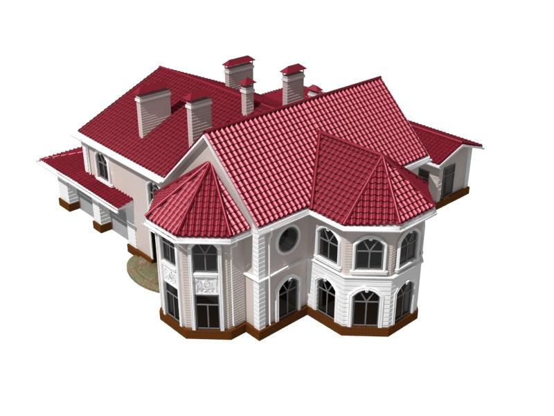 3d дом в разрезе