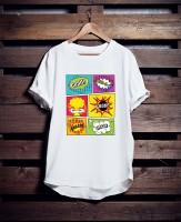Дизайн для футболки комикс