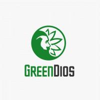 логотип зеленый бог