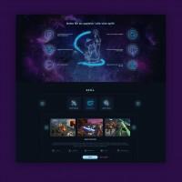 Дизайн лендинга организация VR игр