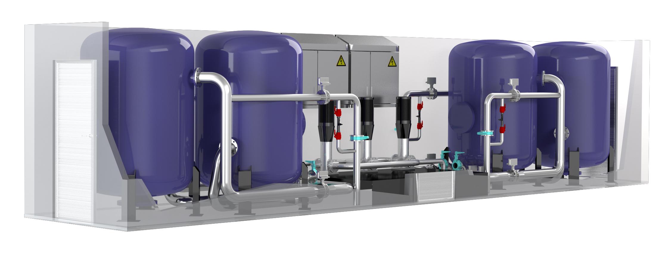 Контейнеры для очистки воды