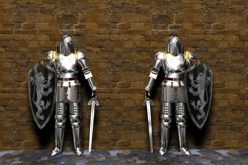 3D рыцарь