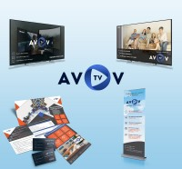 AVOV телевидение - сайт и маркетинговые материалы