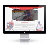 Дизайн сайта для хоккейной команды