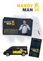 Создание логотипа, дизайн для машины, визитка  для услуг по дому!
