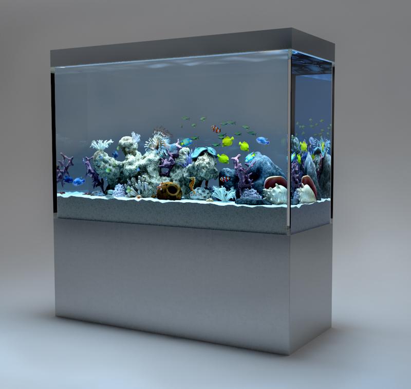 аквариум в 3д
