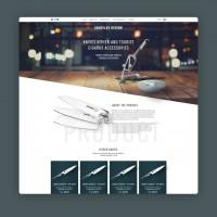 Дизайн лендинга авторские ножи