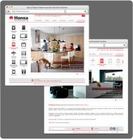 Дизайн интернет магазина бытовой техники Hansa