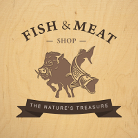 логотип для мясно/рыбного магазина