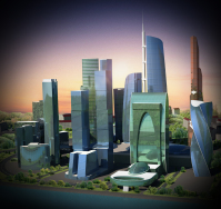 Moscow city 3D project