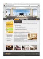 Дизайн сайта для студии дизайна интерьера (Макет продается)