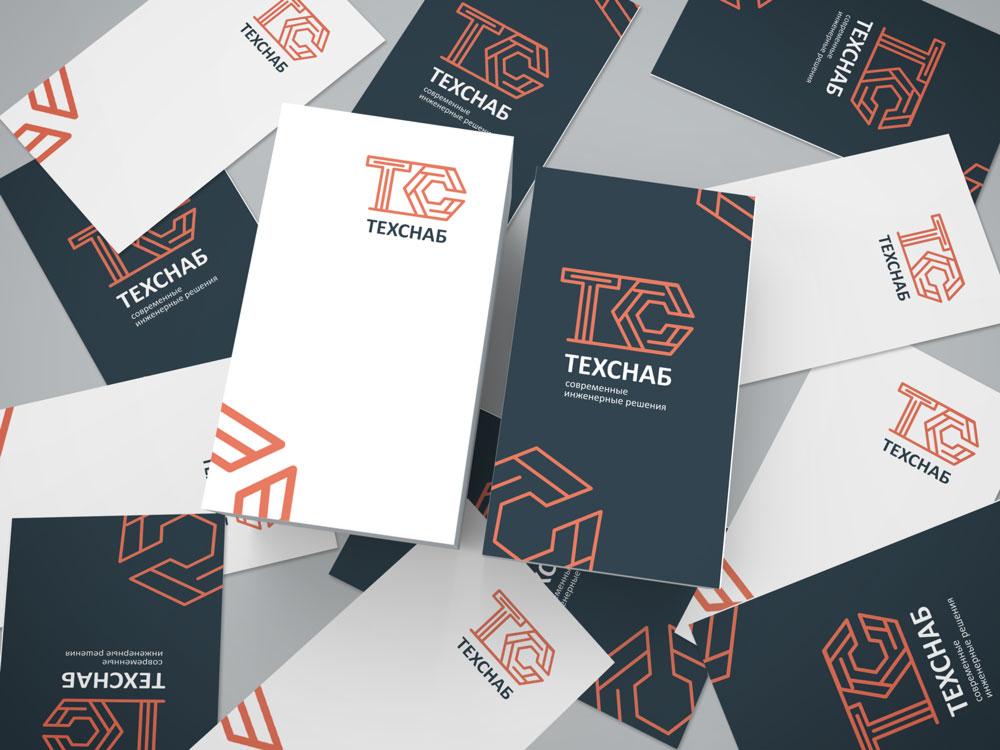Разработка логотипа и фирм. стиля компании  ТЕХСНАБ фото f_5835b1c43a1733bd.jpg