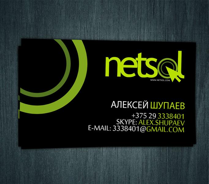 Визитки и лого для IT комании NetSol
