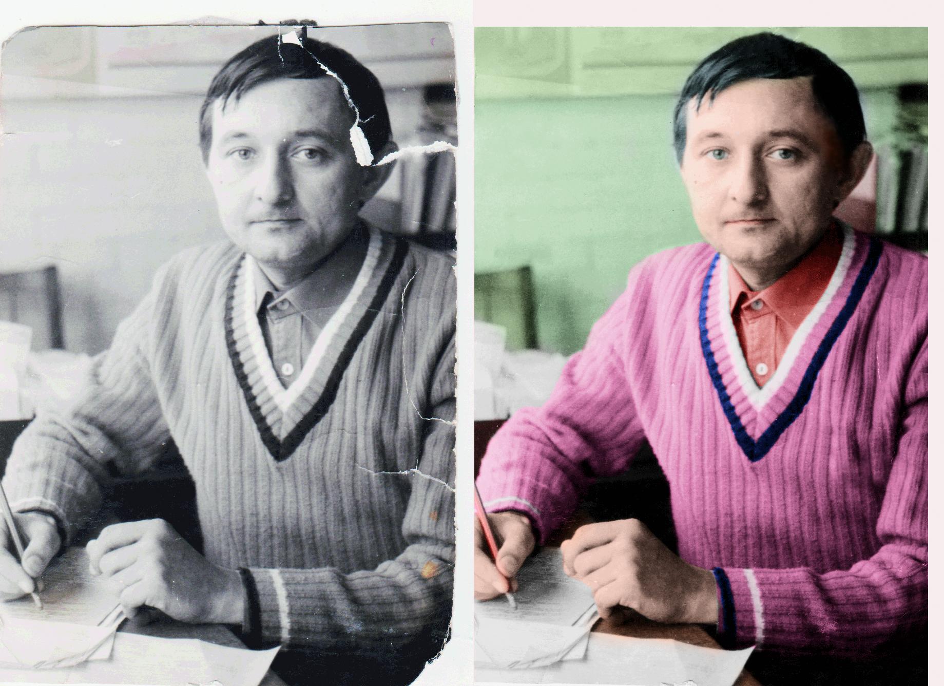 Реставрация ч/б фото