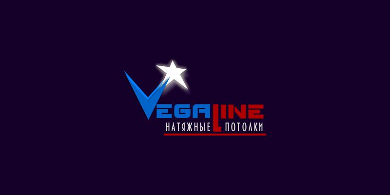 Логотип для магазина-салона натяжные потолки ВЕГА лайн