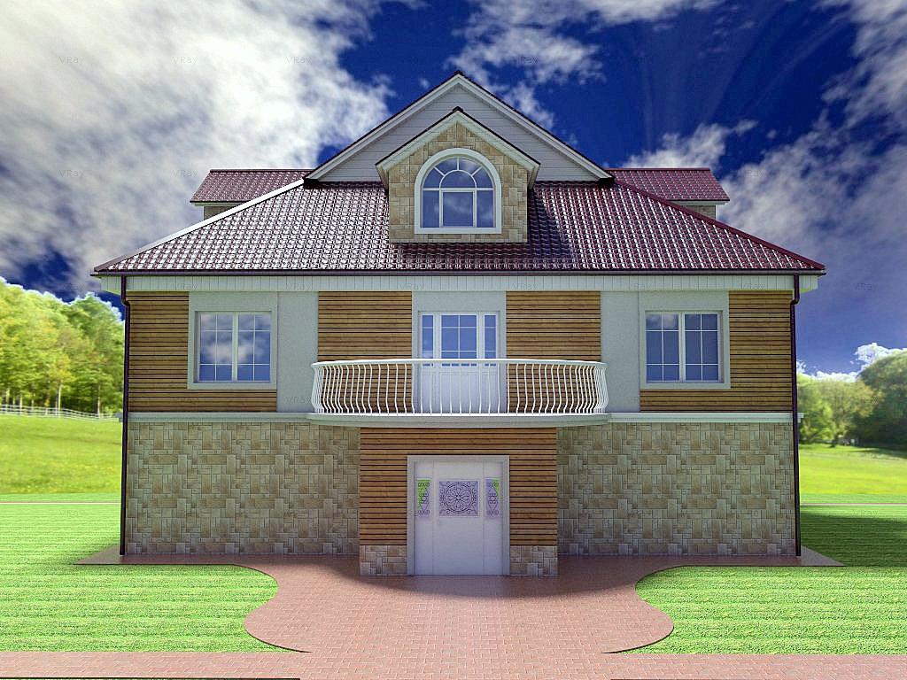 Архитектурный проект фасада коттеджа фото f_48154b7e80fad531.jpg