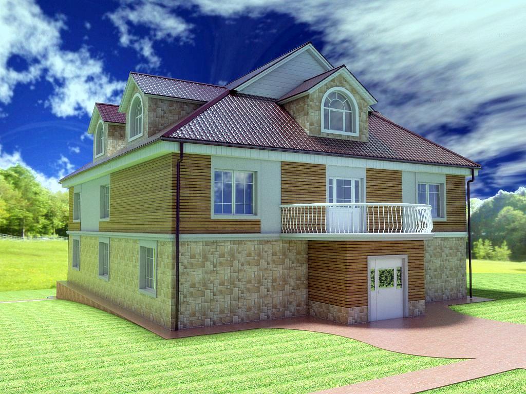 Архитектурный проект фасада коттеджа фото f_63154b7e82d63990.jpg