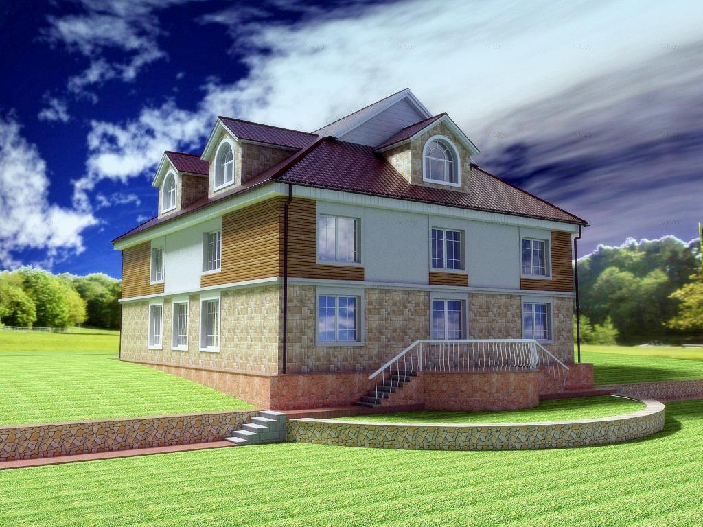 Архитектурный проект фасада коттеджа фото f_86754b7e820d097f.jpg