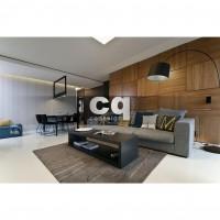 2015 частные интерьеры: фото дизайна квартиры в современном стиле 105м2_1
