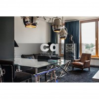 2015 частные интерьеры: фото дизайна квартиры в стиле ар-деко / арт-деко (art deco) 135м2_2