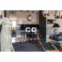 2015 частные интерьеры: фото дизайна квартиры в стиле ар-деко / арт-деко (art deco) 135м2_1