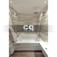 2015 частные интерьеры: фото дизайна ванной комнаты (2) в квартире в современном стиле 108м2