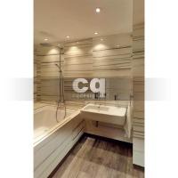 2015 частные интерьеры: фото дизайна ванной комнаты (1) в квартире в современном стиле 108м2